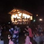 城山公園での郡上踊りと岸劔神社お神楽奉納