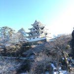 郡上八幡城の雪景色